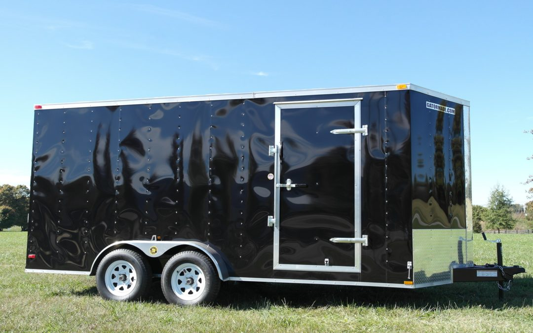 Enclosed Cargo Trailer 7×16 ft V-Nose 7k GVWR
