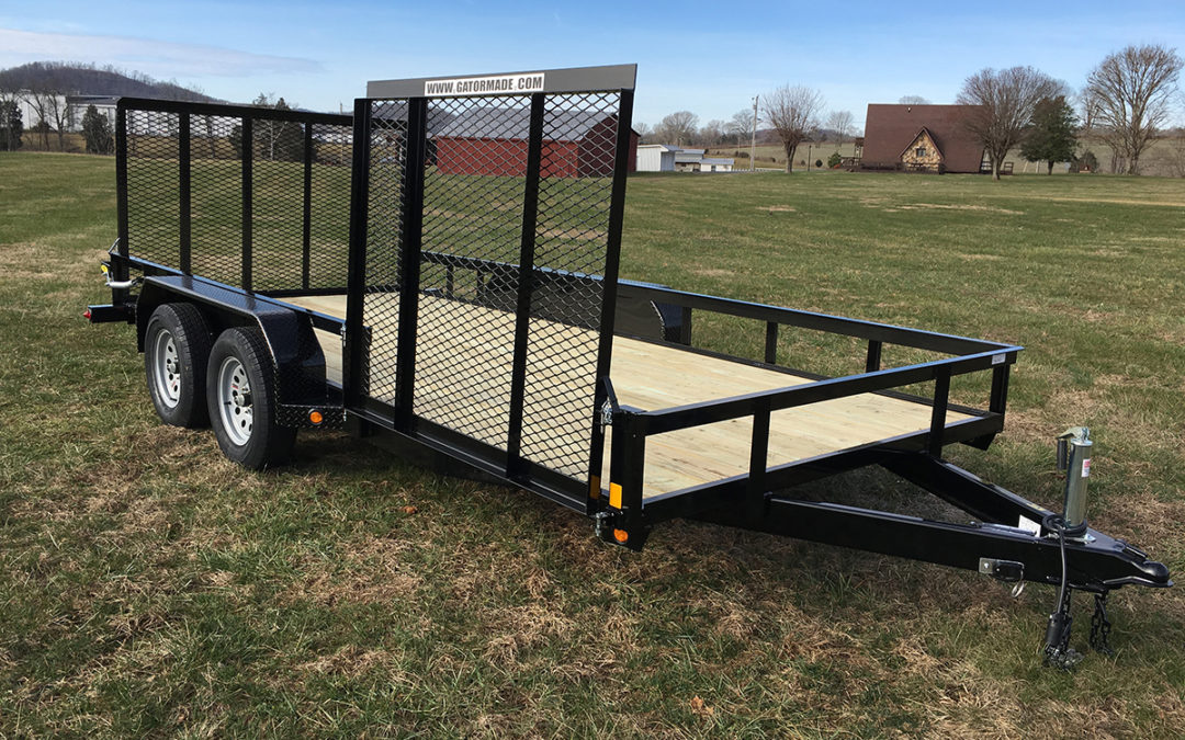 Utility Trailer 6 ft 10 inch x 16 ft with Side and Rear Gate