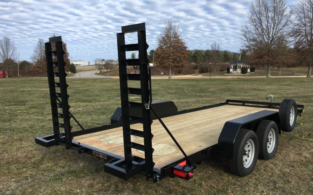 Flatbed Car Hauler Trailer Stand Up Ramps Gatormade Trailers