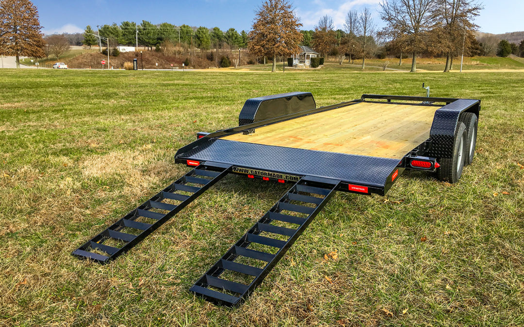 Flatbed Car Hauler Trailer (with Dovetail)