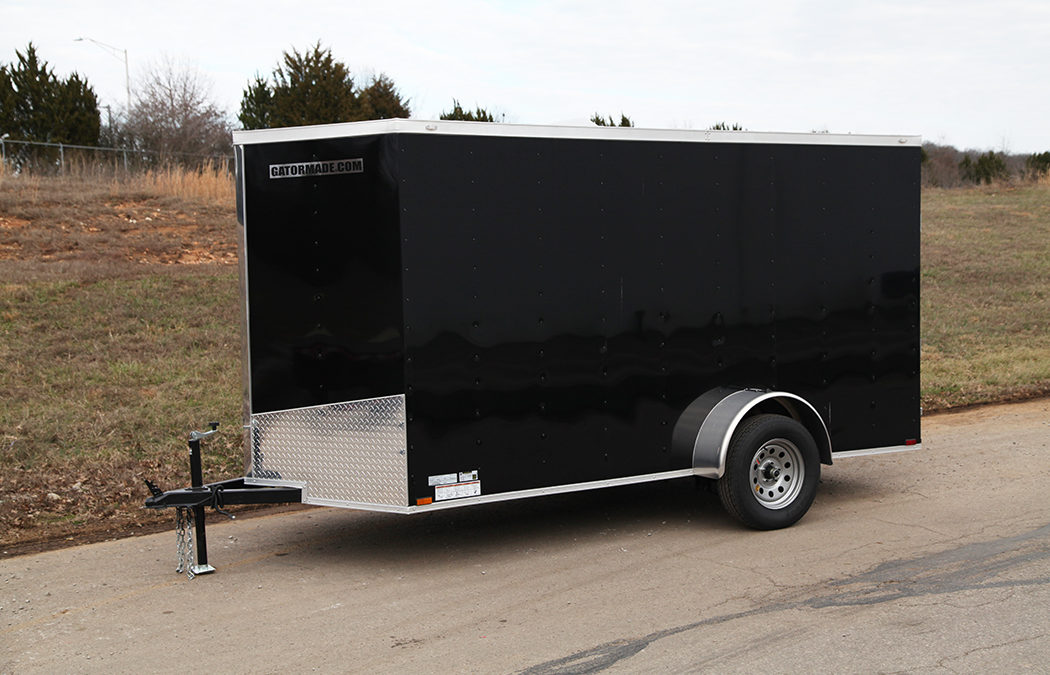 Enclosed Cargo Trailer 6×12 ft V-Nose 3k GVWR